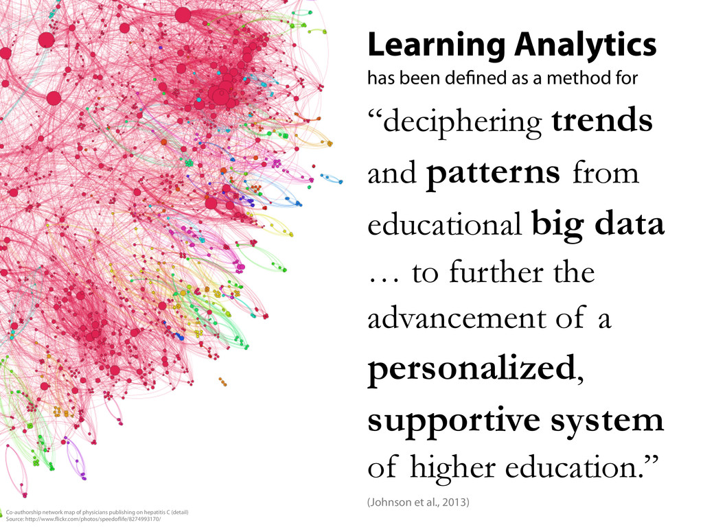 Learning Analytics has been de ned as a method ...