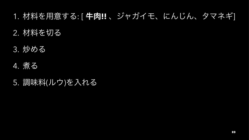 1. ࡐྉΛ༻ҙ͢Δ: [ ڇ!! ɺδϟΨΠϞɺʹΜ͡ΜɺλϚωΪ] 2. ࡐྉΛΔ 3...