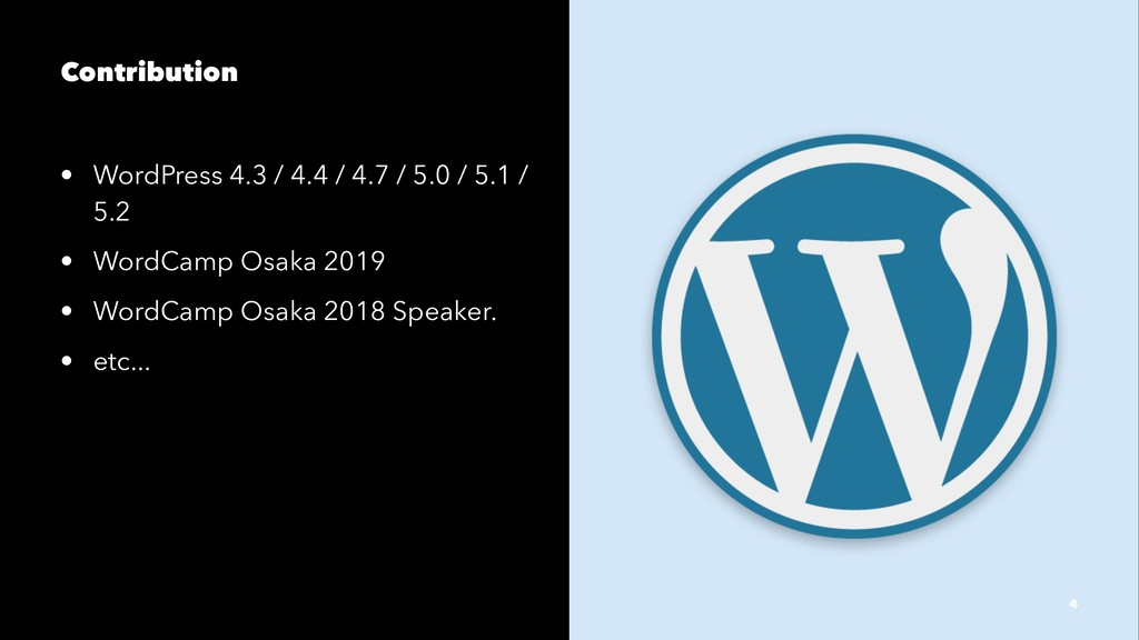 Contribution • WordPress 4.3 / 4.4 / 4.7 / 5.0 ...