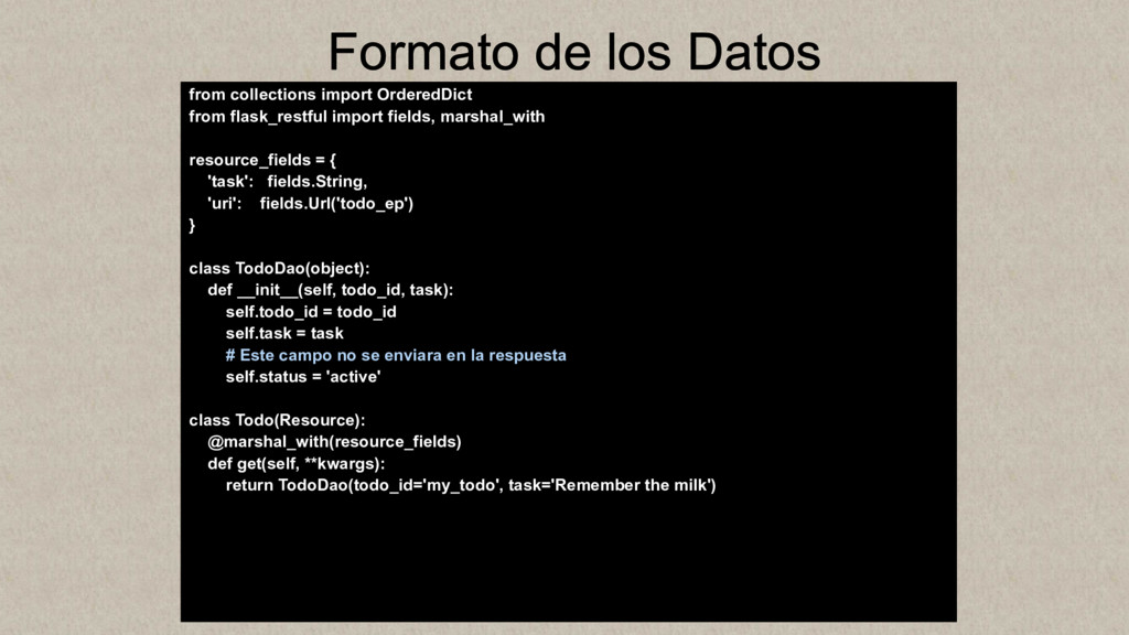 Formato de los Datos from collections import Or...