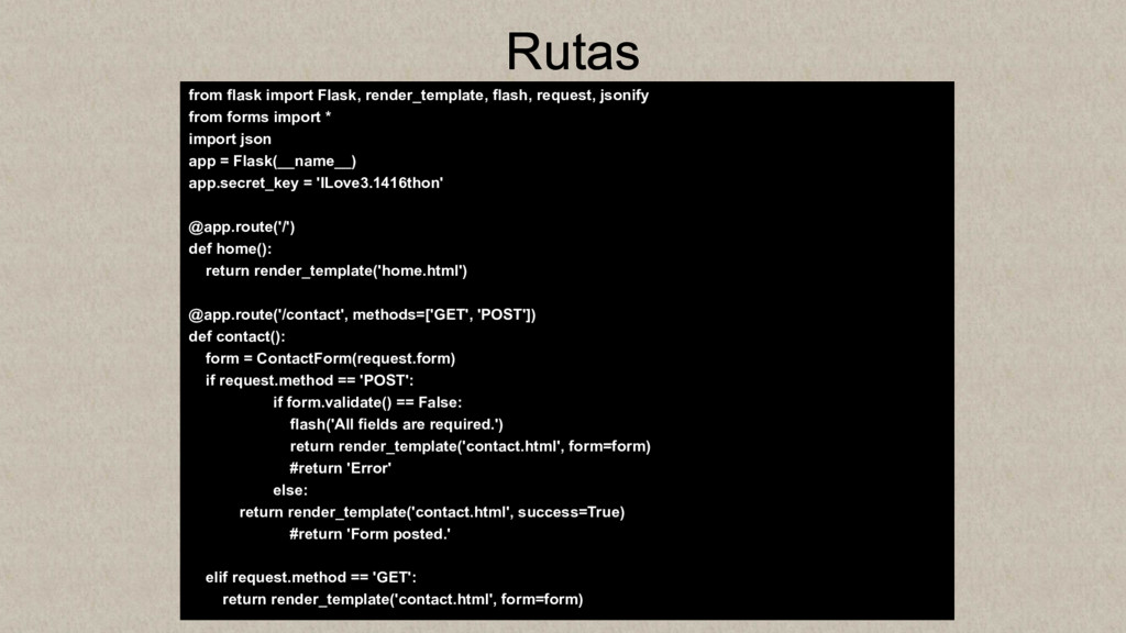 Rutas from flask import Flask, render_template,...