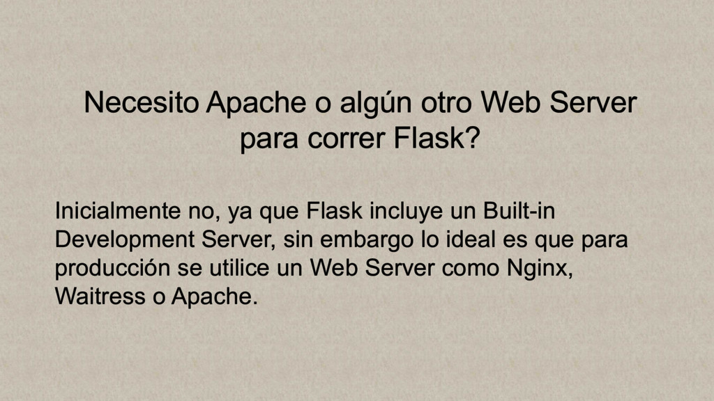 Necesito Apache o algún otro Web Server para co...