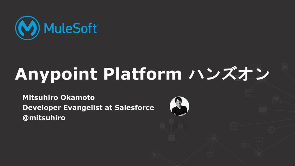 Mitsuhiro Okamoto Developer Evangelist at Sales...