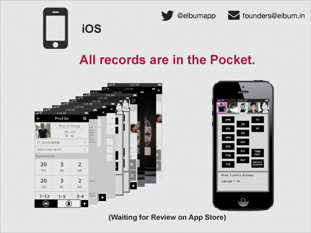 iOS (Waiting for Review on App Store) @elbumapp...