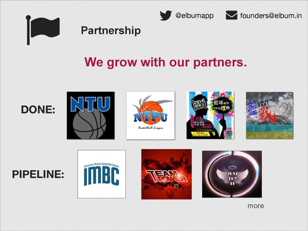 Partnership @elbumapp founders@elbum.in We grow...