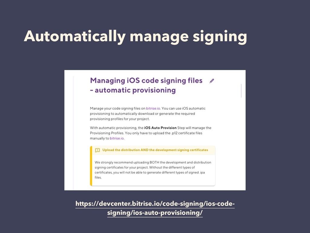 Automatically manage signing https://devcenter....