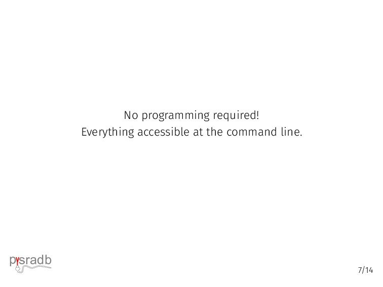 No programming required! Everything accessible ...