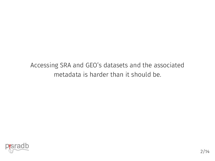 Accessing SRA and GEO's datasets and the associ...