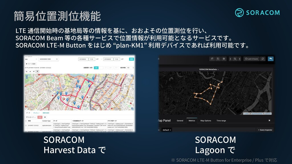 簡易位置測位機能 SORACOM Harvest Data で SORACOM Lagoon ...