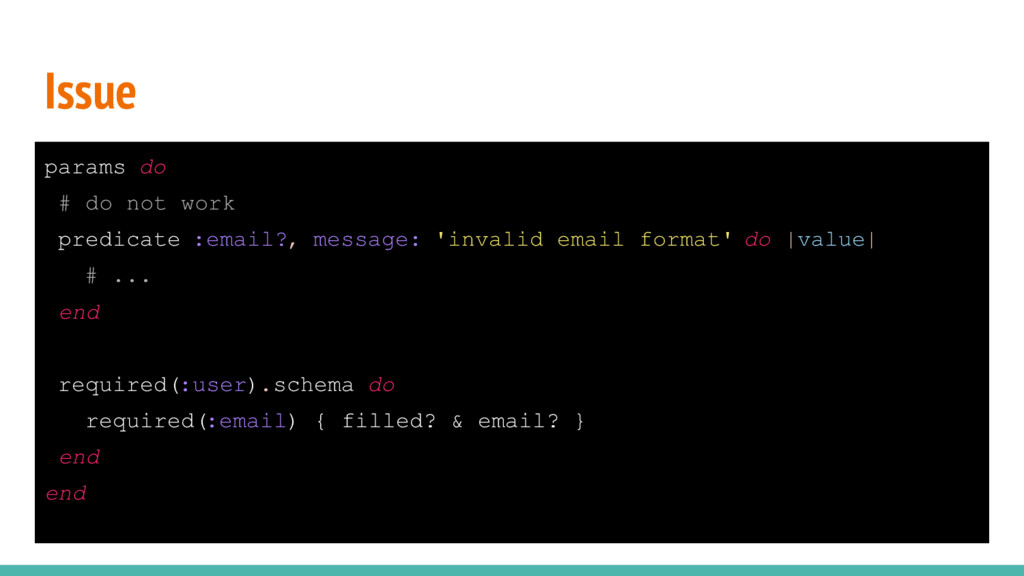 Issue params do # do not work predicate :email?...