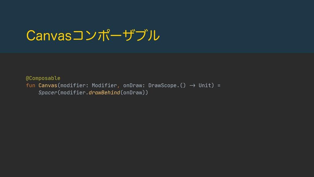 $BOWBTίϯϙʔβϒϧ @Composable  fun Canvas(modifier:...