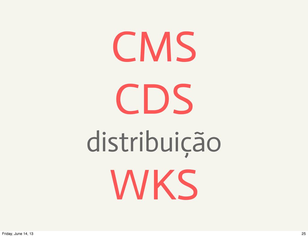 CMS CDS distribuição WKS 25 Friday, June 14, 13