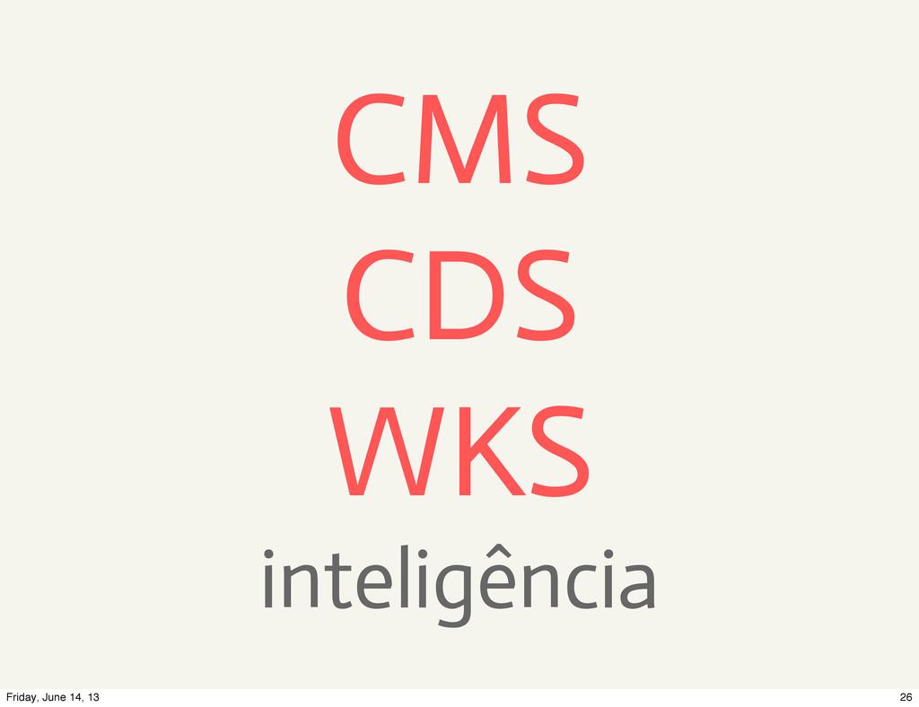 CMS CDS WKS inteligência 26 Friday, June 14, 13