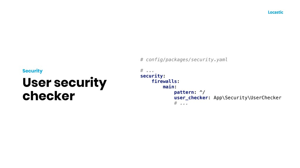 User security checker Security # config/package...