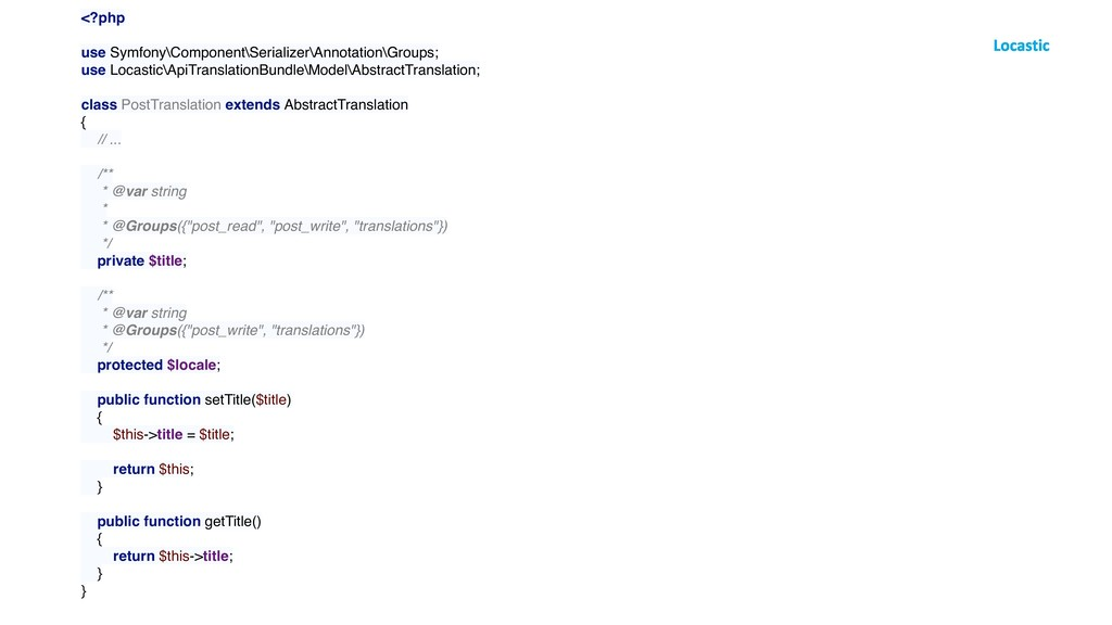 <?php use Symfony\Component\Serializer\Annotati...