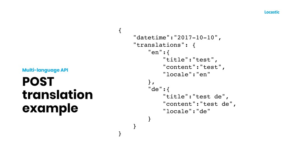 "POST translation example Multi-language API { ""..."