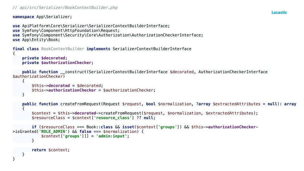 // api/src/Serializer/BookContextBuilder.php na...