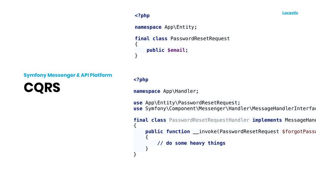 CQRS Symfony Messenger & API Platform <?php nam...