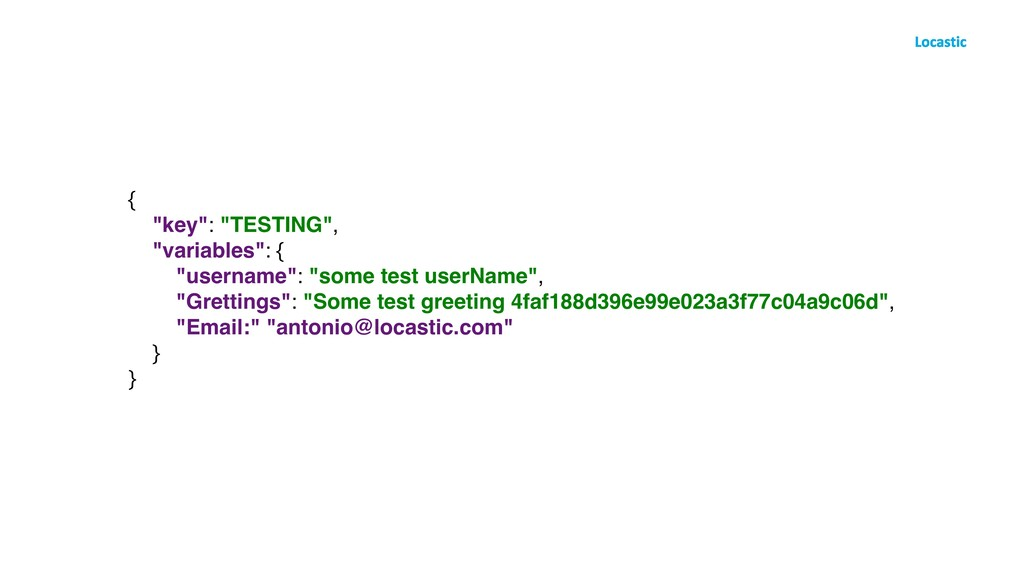 "{ ""key"": ""TESTING"", ""variables"": { ""username"": ..."