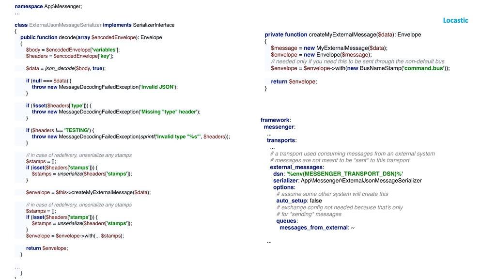 namespace App\Messenger; … class ExternalJsonMe...