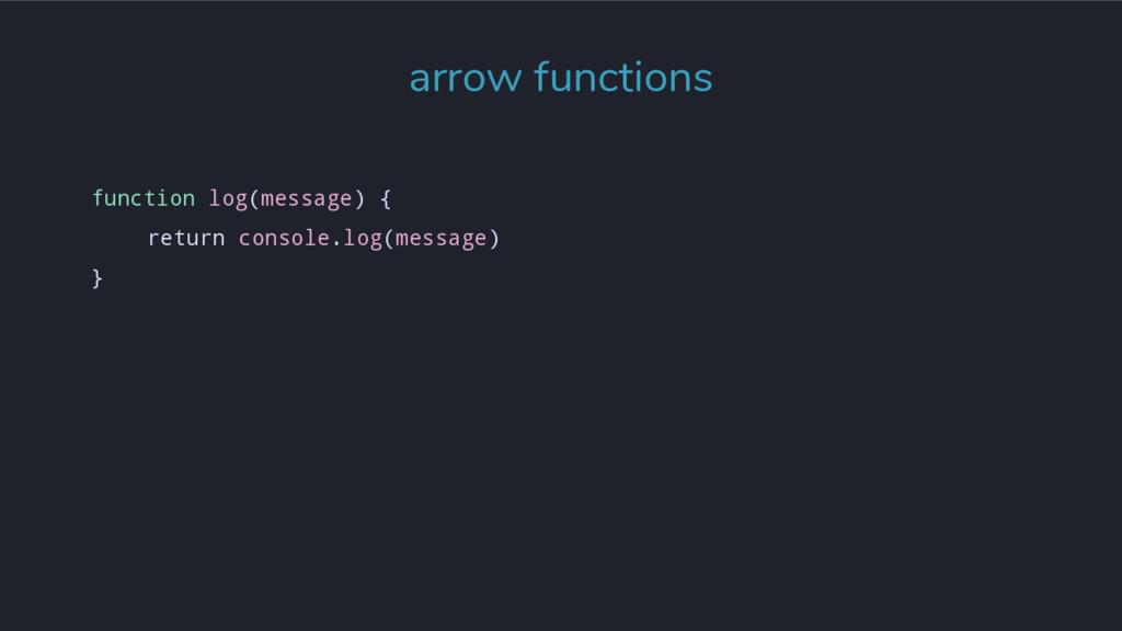 function log(message) { return console.log(mess...