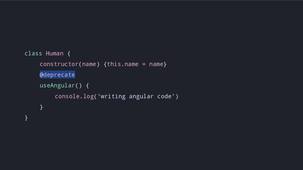 class Human { constructor(name) {this.name = na...