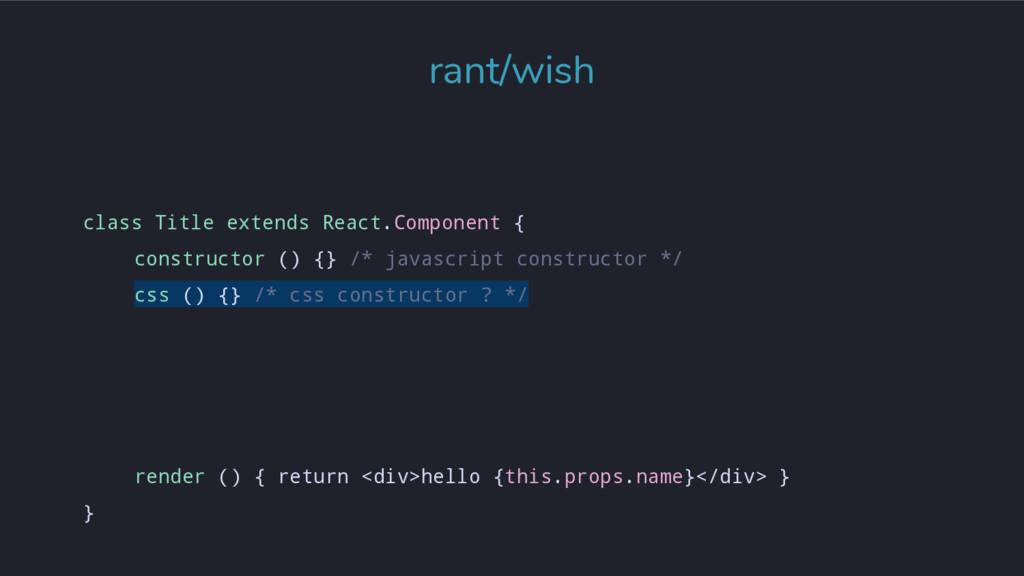 class Title extends React.Component { construct...