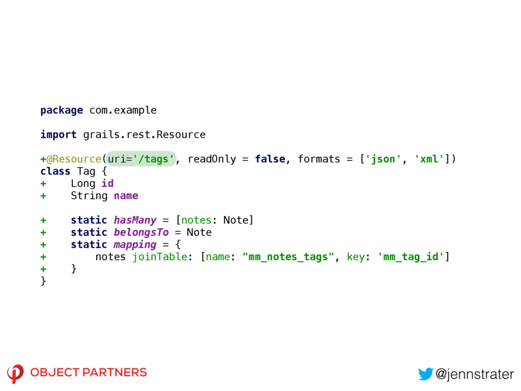 package com.example import grails.rest.Resource...