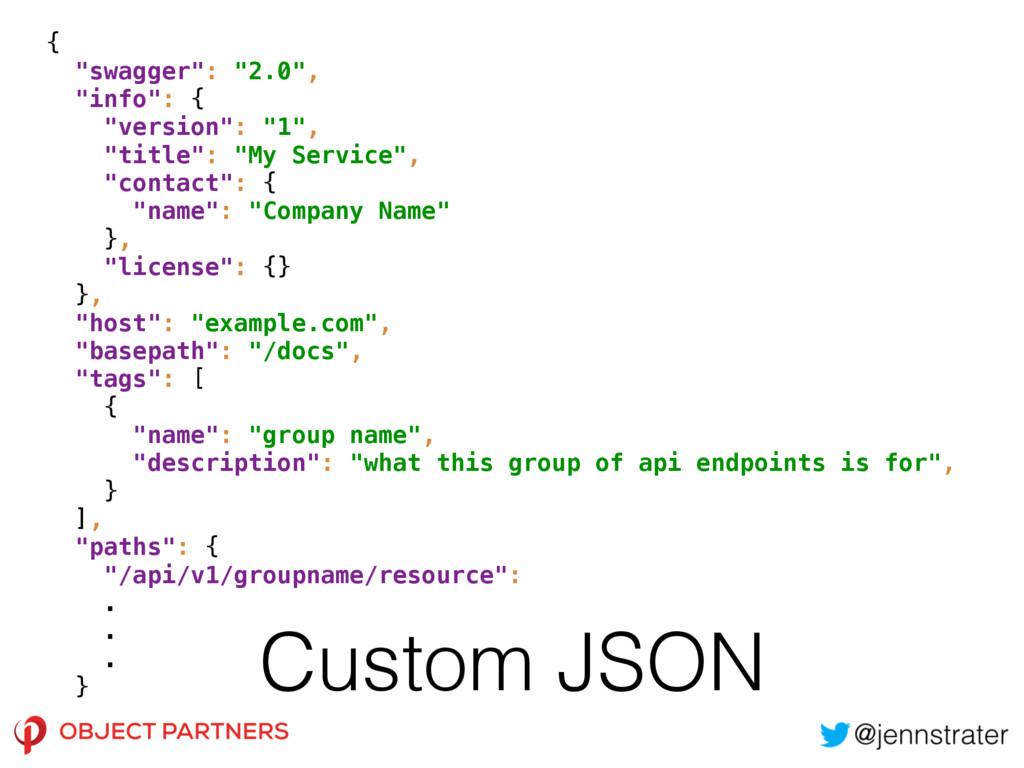 """Custom JSON { """"swagger"""": """"2.0"""", """"info"""": { """"v..."""