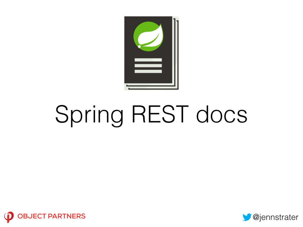 Spring REST docs