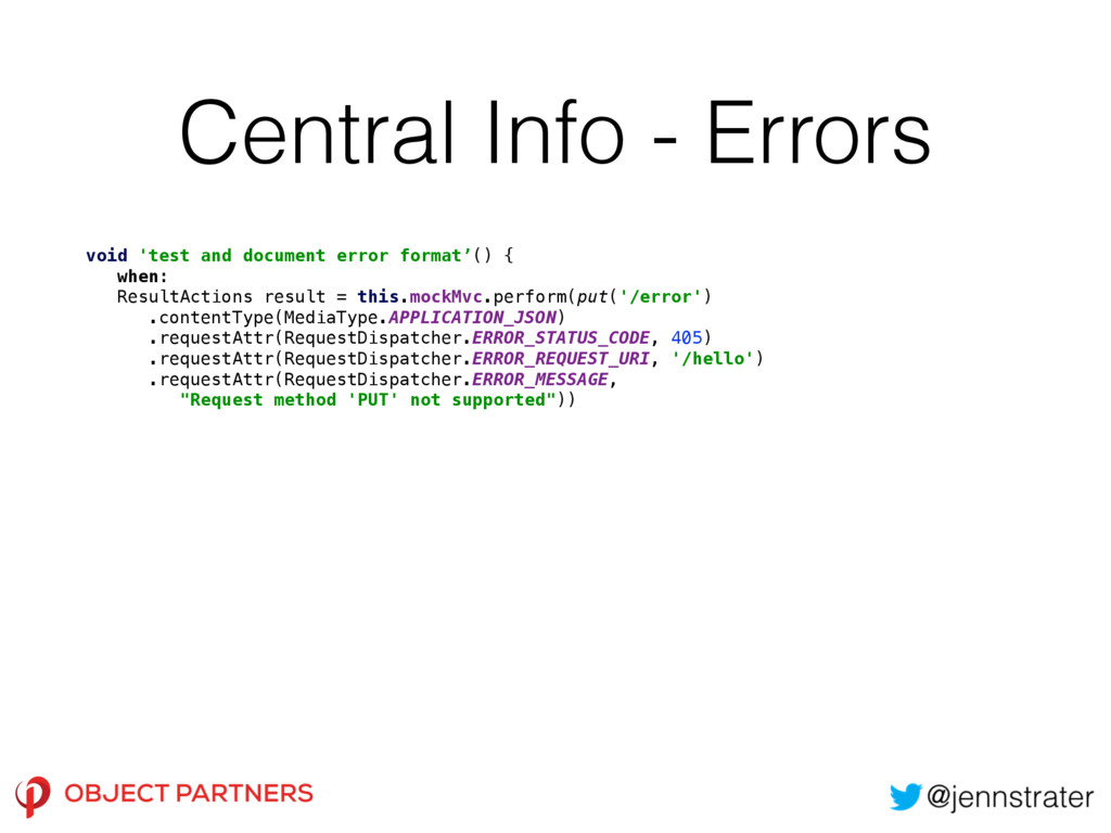 Central Info - Errors void 'test and document e...