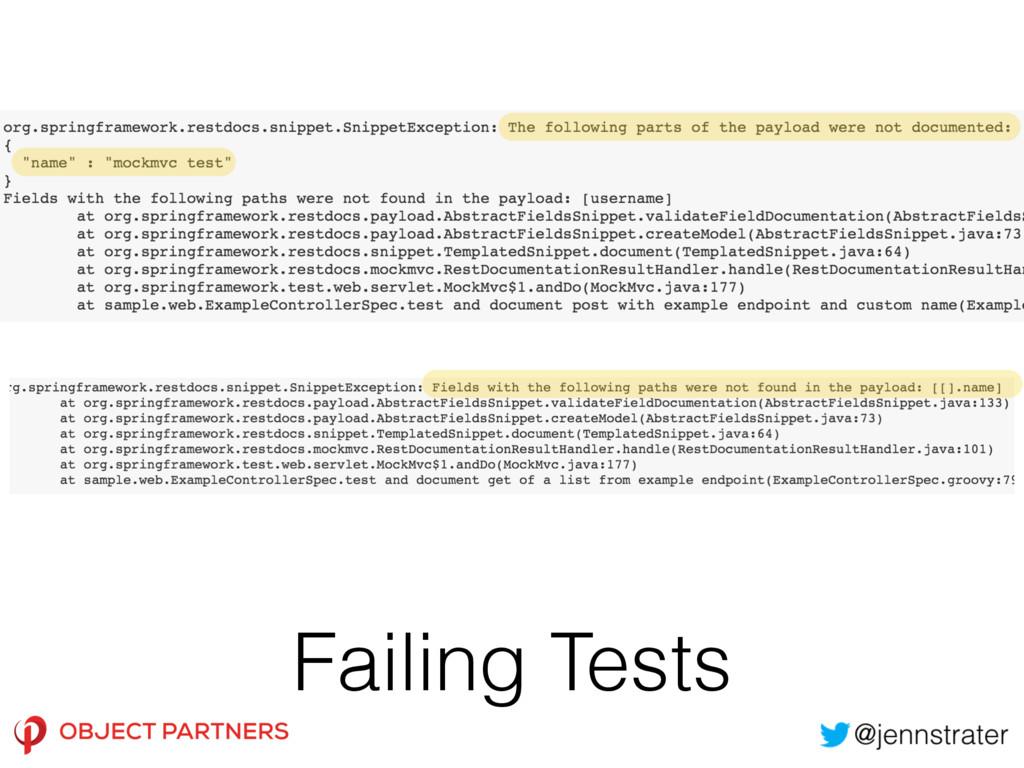 Failing Tests