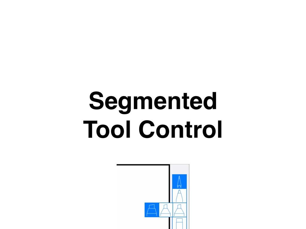 Segmented Tool Control