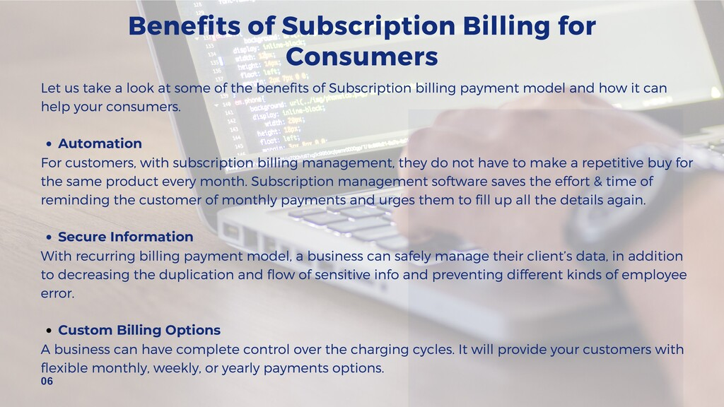 Benefits of Subscription Billing for Consumers ...