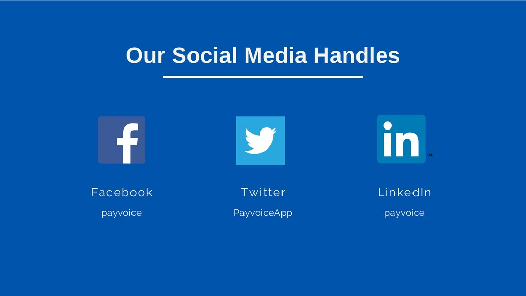Our Social Media Handles Facebook payvoice Twit...
