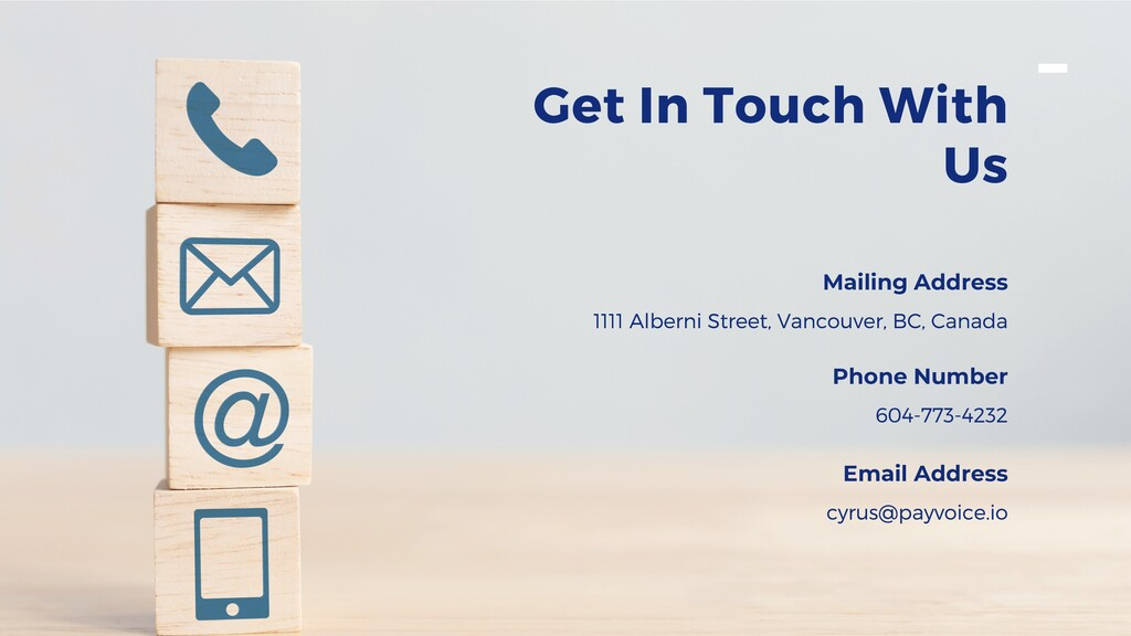 Get In Touch With Us Mailing Address 1111 Alber...