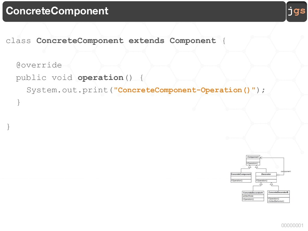 jgs 00000001 ConcreteComponent class ConcreteCo...