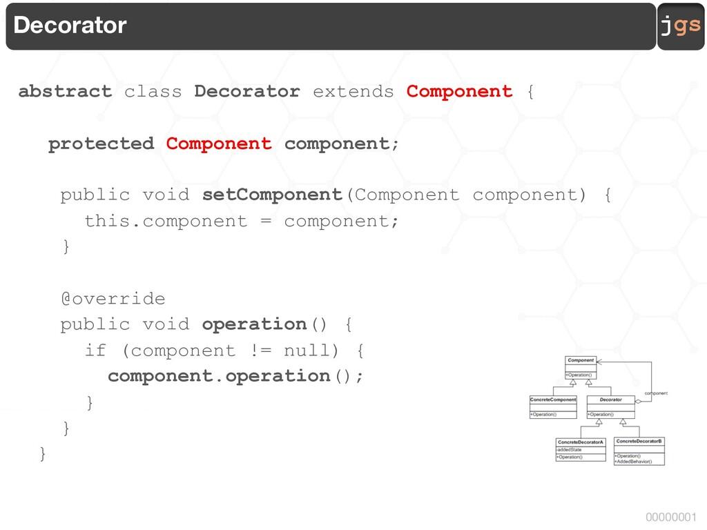 jgs 00000001 Decorator abstract class Decorator...