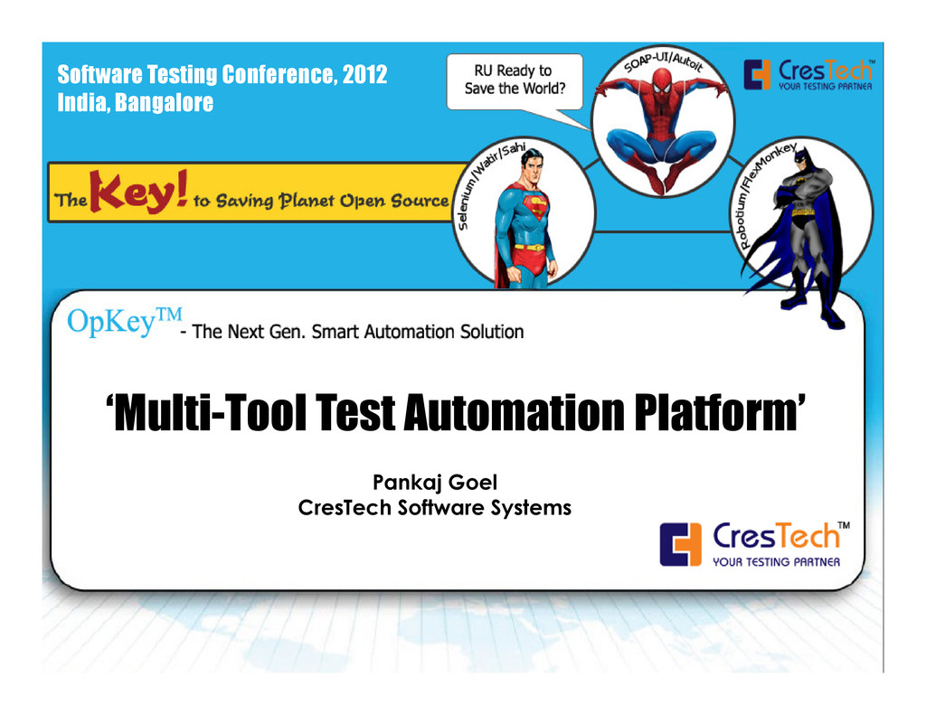 Software Testing Conference, 2012 India, Bangal...