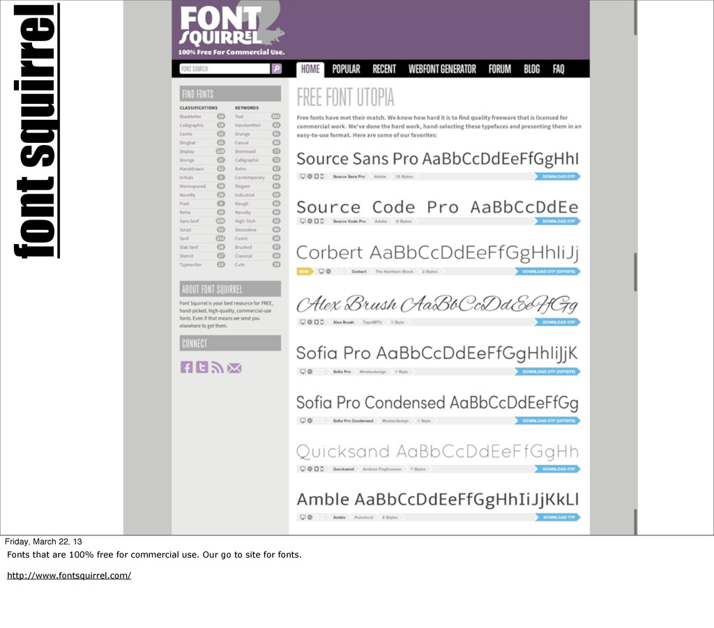font squirrel Friday, March 22, 13 Fonts that a...