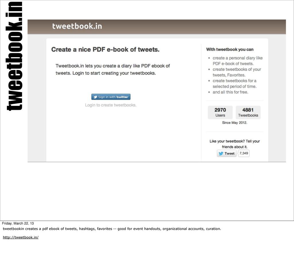 tweetbook.in Friday, March 22, 13 tweetbookin c...