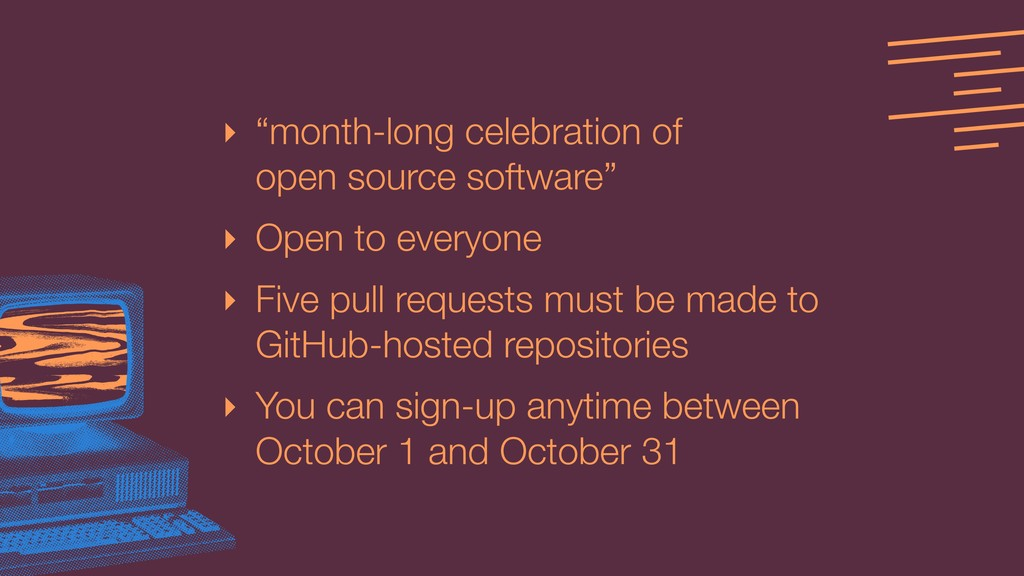 "‣ ""month-long celebration of