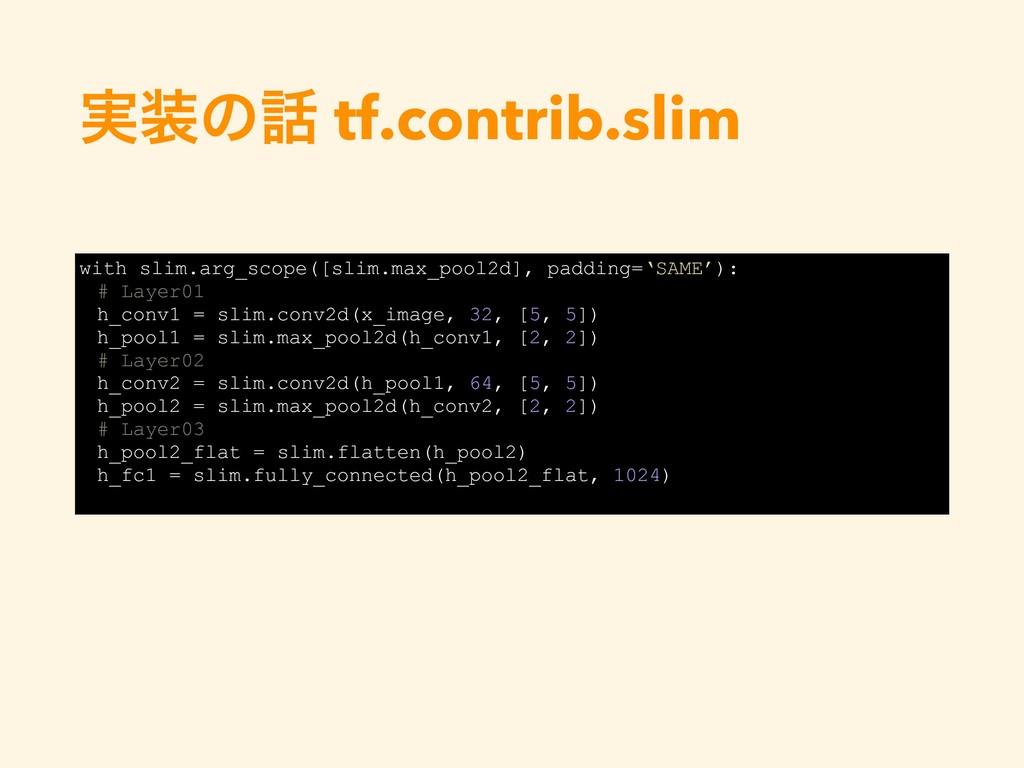 ࣮ͷ tf.contrib.slim with slim.arg_scope([slim....