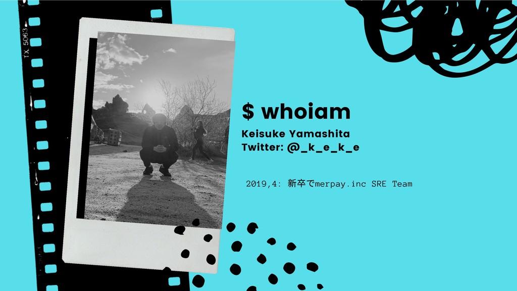 $ whoiam 2019,4: 新卒でmerpay.inc SRE Team Keisuke...