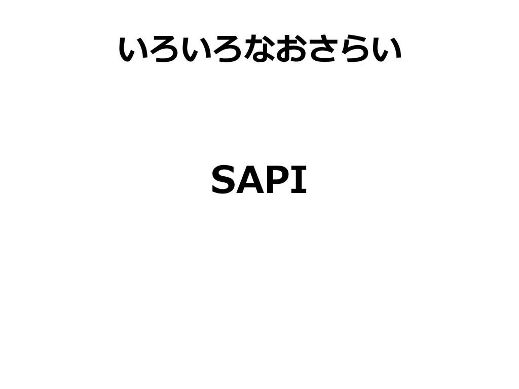 いろいろなおさらい SAPI