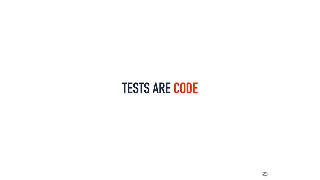 TESTS ARE CODE 23