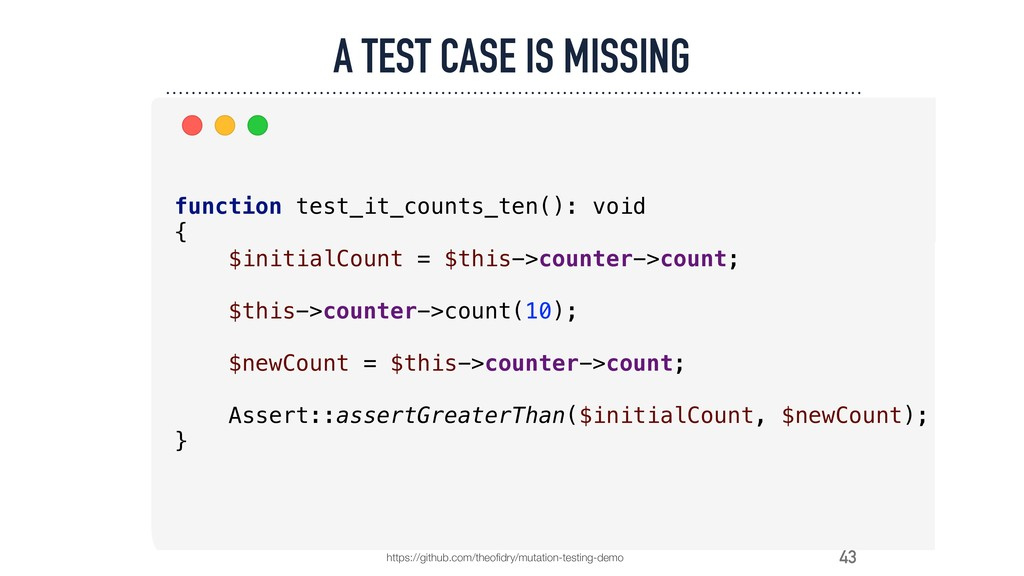 43 A TEST CASE IS MISSING https://github.com/th...