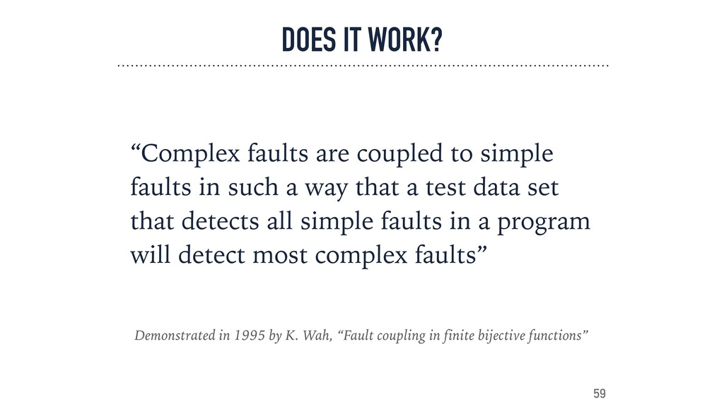 """DOES IT WORK? """"Complex faults are coupled to si..."""