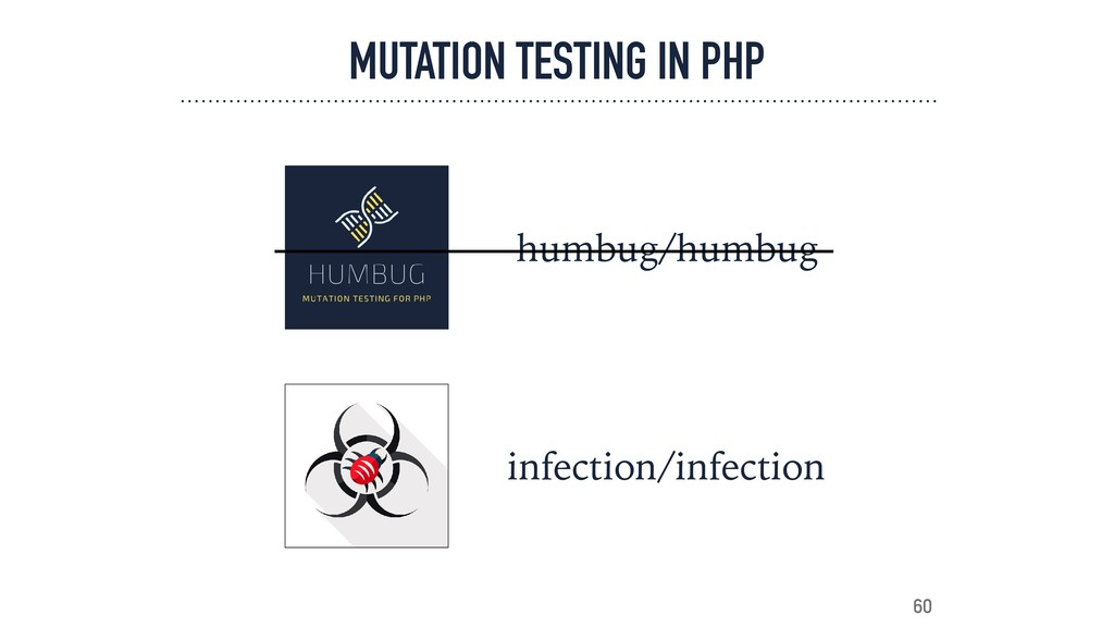 MUTATION TESTING IN PHP infection/infection 60 ...