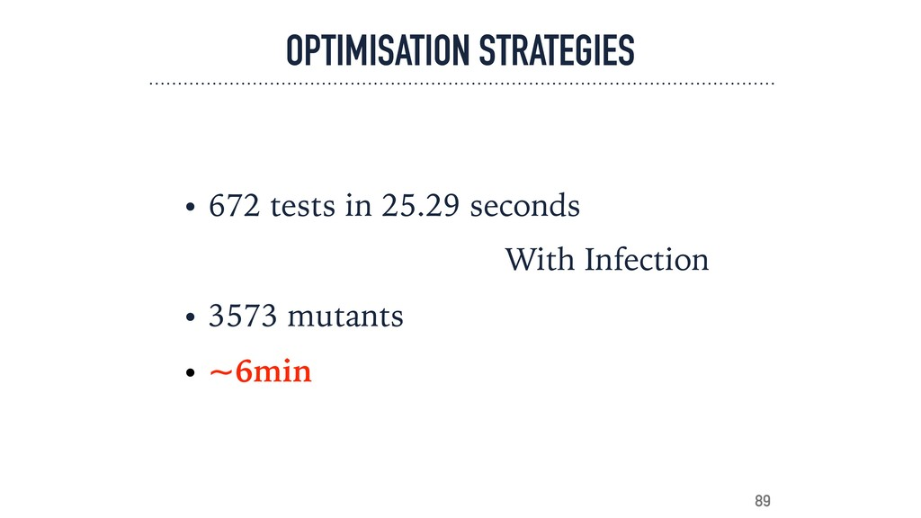 OPTIMISATION STRATEGIES • 672 tests in 25.29 se...
